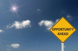 Opportunity ahead sign - Firm Wide